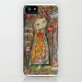 Get lost in the woods iPhone Case