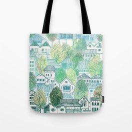Jungle Village Tote Bag