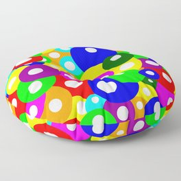 Multicolour Simple Dotty Pattern Floor Pillow