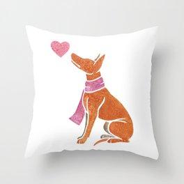 Watercolour Pharaoh Hound Throw Pillow