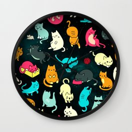Kitty Space Wall Clock