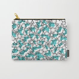 Oddgon and Angular Cluster in Turquoise Carry-All Pouch