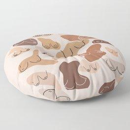 Boobs Feminine Aesthetic Art Floor Pillow