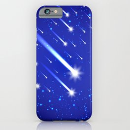 Space background with stars and comets iPhone Case