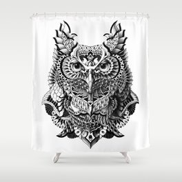 Century Owl Shower Curtain