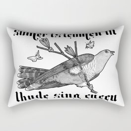 Lhude Sing Cuccu Rectangular Pillow