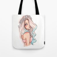 laia Tote Bags featuring Mermaid Hair by Laia™