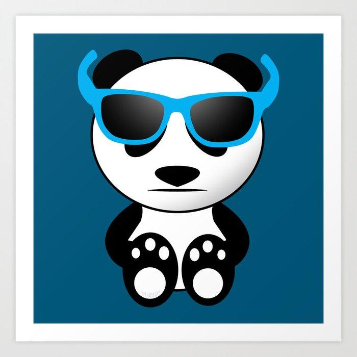 Cool and cute panda bear with sunglasses Art Print