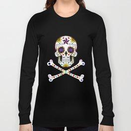 Sugar Skull & Cross Bones Long Sleeve T-shirt