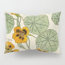 Maurice Verneuil - Capucine - botanical poster Pillow Sham