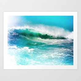 Ocean Wave Rip Curl Art Print