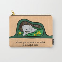 Elefante y Boa Carry-All Pouch