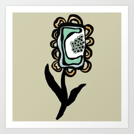 Square Flower One Art Print