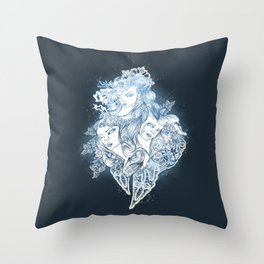 Mermaids Throw Pillow