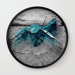 desert flamingo Wall Clock