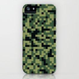 8bit camoflauge pattern iPhone Case