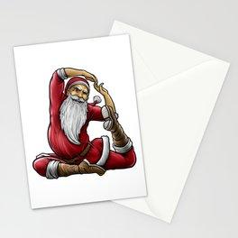 Yogi Santa Claus | Namaste Yoga Christmas Mantra Stationery Cards