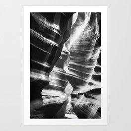 Waves of sandstone at Antelope Canyon Art Print