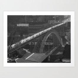 Porto brige Black and withe Art Print
