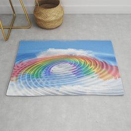 Rainbow clouds intimacy intimate Rug