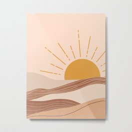 Abstract Sunset Painting 3.6 Metal Print