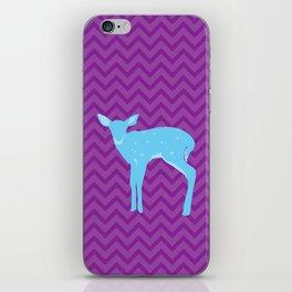 A deer - A Very Blue Deer iPhone Skin