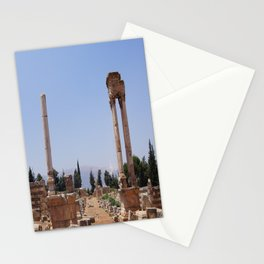 Ruins - Pillars & Mountains  Stationery Cards