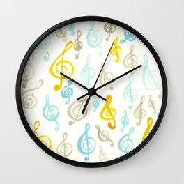 #75. AMY - Treble Clefs/Music Wall Clock