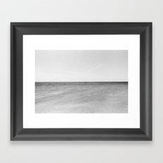 Minimal ocean Framed Art Print