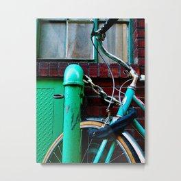 GREEN BICYCLE Metal Print