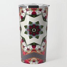 Red and White Flowers Travel Mug