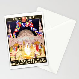 Seville Hispano American Expo 1929 art deco ad Stationery Cards