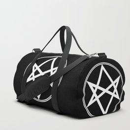 Men of Letters Symbol White Duffle Bag