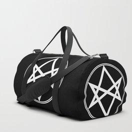 Men of Letters Symbol White Duffle Bag