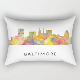Baltimore Skyline WB1 Rectangular Pillow
