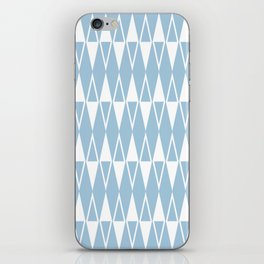Mid Century Modern Diamond Pattern Pale Blue 234 iPhone Skin