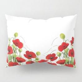Poppy Mohn Flower Field Pillow Sham
