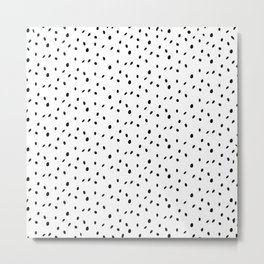 Cutest tiny black and white dot pattern Metal Print
