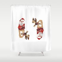 santa Shower Curtains featuring Santa by Benedikte