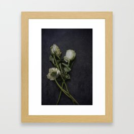 Wilting Flowers Framed Art Print