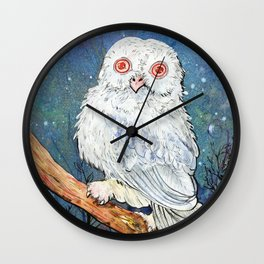 Albino Owl Wall Clock