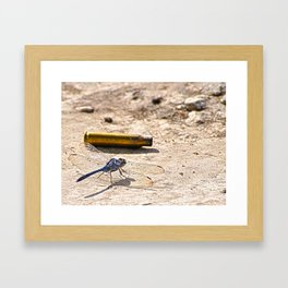 Bullet with Dragonfly wings Framed Art Print
