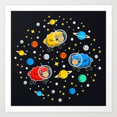 Space Sheep Art Print