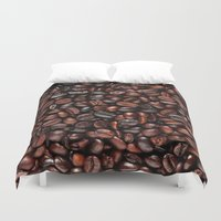coffee Duvet Covers featuring Coffee by Vickn