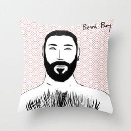 Beard Boy: Emilio Throw Pillow