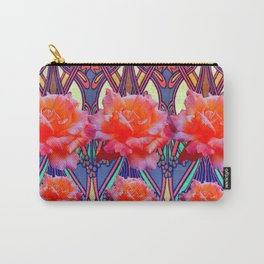 Colorful Art Nouveau Roses Vintage Design Carry-All Pouch