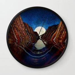 Moon Reflection Wall Clock