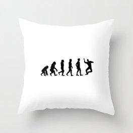 Seb Evolution Meme Celebration Throw Pillow