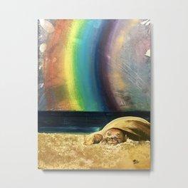 Sleepy Seal on the Beach Metal Print
