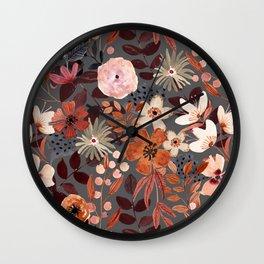 Kaitlyn Watercolor Floral No. 2 Wall Clock